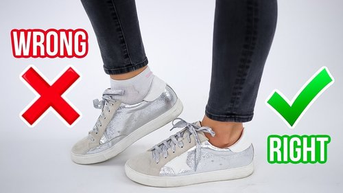 8 Ways You're Wearing Shoes WRONG! *how to fix* - YouTube