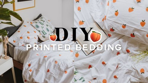 DIY Pattern Duvet Cover 🍑 Super Easy & Affordable (UPCYCLE) 2018 // Lone Fox - YouTube