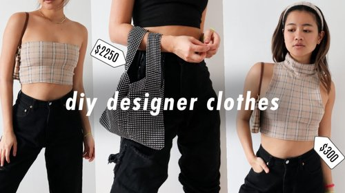 DIY DESIGNER CLOTHES for under $10 ! | thrift flip - YouTube
