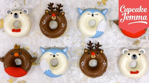 Super Cute Christmas Doughnuts! | Cupcake Jemma - YouTube