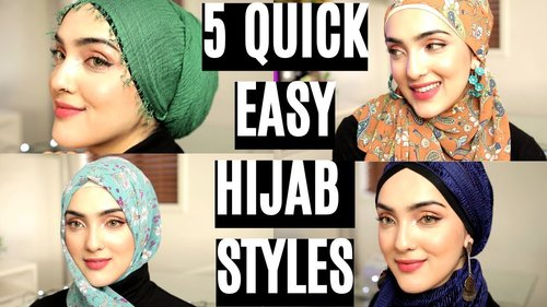 Everyday Simple Hijab/ Shawl Tutorials ~ Immy - YouTube