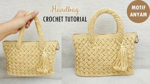 CROCHET : Tas Rajut Motif Anyam || Celtic Weave Stitch - YouTube