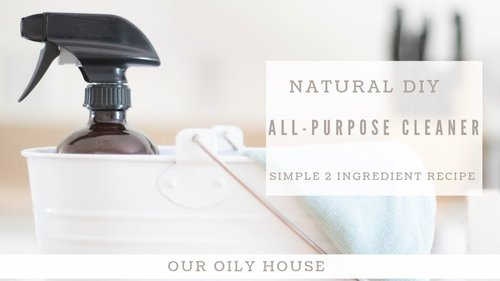 DIY All-Purpose House Cleaner | Natural Cleaning with Essential Oils - YouTube