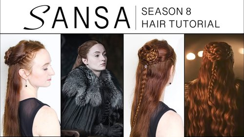 Game of Thrones Season 8 Hair Tutorial - Sansa Stark - YouTube