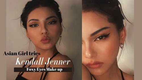 Asian girl tries KENDALL JENNER Fox Eyes Model Makeup Tutorial- Tik Tok / XiaoHongShu by MAMMON玛門 - YouTube