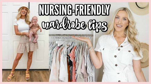 NURSING FRIENDLY STYLE TIPS! DRESS CUTE WHILE BREASTFEEDING | OLIVIA ZAPO - YouTube