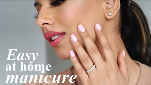 My AT HOME MANICURE Routine! | Nailpolish that lasts! - YouTube