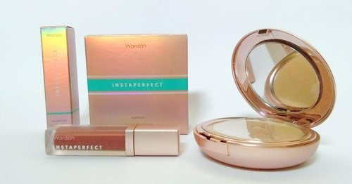 Review: Wardah Instaperfect Matte Fit Powder Foundation & Mattesetter Lip Matte Paint