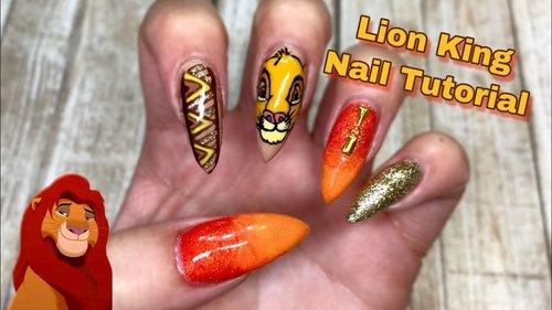 Lion King Nail Tutorial - YouTube