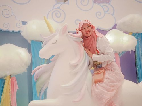 When someone told me I lived in a fantasy land, I  nearly fell off my unicorn.  But then, I laugh. So, what?  Who care? I don't. . As long as I am happy, I don't mind if I live in a fantasy land like #MOIUnicornLand . . . . #jilbabday #hijabtravellers #hijabday #hijabtravelling #hijabdaily #hijabtraveller  #exploreindonesia #traveling #holiday #vacation #redtraveler #clozetteid #dolansebentar #CreateMoments #PesonaIndonesia #yourtravelvoice #AladinGetaway #travellerscantik #keluarbentar #INDOFLASHLIGHT #infiatravel #TripZillaTraveller