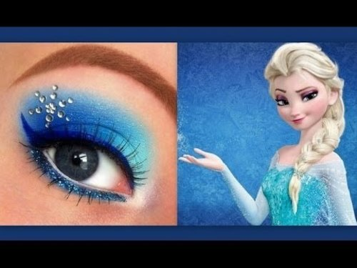 Disney's Frozen: Elsa makeup tutorial - YouTube