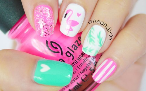Flamingo Nails | BONUS DIY Nail Polish Sticker - YouTube
