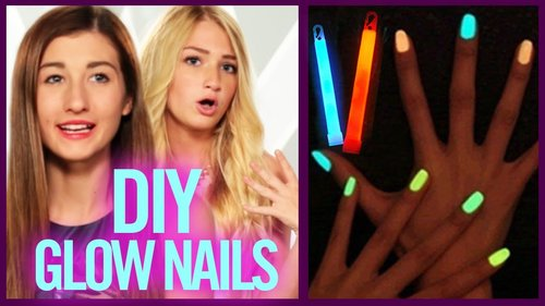 DIY GLOW STICK NAIL POLISH - Makeup Mythbusters with Maybaby and BindleBeautyx - YouTube