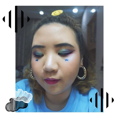 Paddle Pop eyes for Day 3 🍭 @we.the.fest . Eyeshadow: @thebalm Bon Voyage palette & @colourpopcosmetics #Slave2Pink pigment . Purple iridescent highlighter: @katvondbeauty Alchemist Palette 🦄💜✨ . Lips: @urbandecaycosmetics Vice Lipstick in Firebird, topped with @colourpopcosmetics Ultra Cute gloss . . #wtf2018 #wethefest #wethefest2018 #musicfestival #musicfestivalmakeup #clozetteid #fdbeauty #beautyjournal #indonesianbeautyblogger