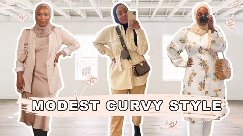MODEST SPRING OUTFITS & STYLE TIPS FOR CURVES | Aysha Harun - YouTube