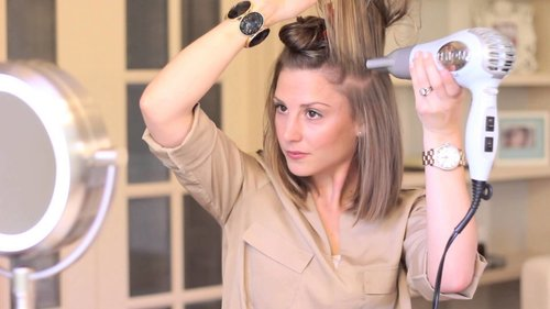 Blow-Dry Short Hair Straight (with Volume!) - YouTube