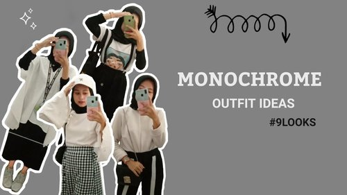 Monochrome Outfit Ideas 2020 by Happy Rachmi Utami - YouTube