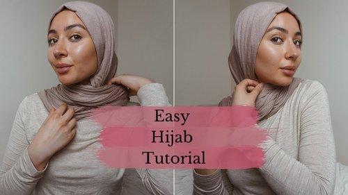 Easy Jersey Hijab Tutorial - YouTube