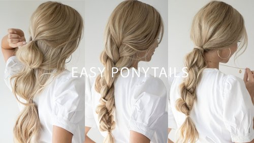 HOW TO: BRAIDED PONYTAIL HAIRSTYLES 👱🏻‍♀️ Everyday Hairstyles - YouTube