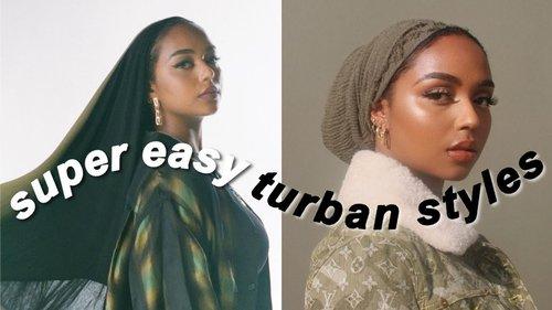 turban tutorial | my top 3 easy go to styles - YouTube