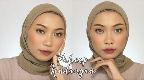 MAKEUP KONDANGAN (no foundation + bulu mata!) | atamipuspa - YouTube