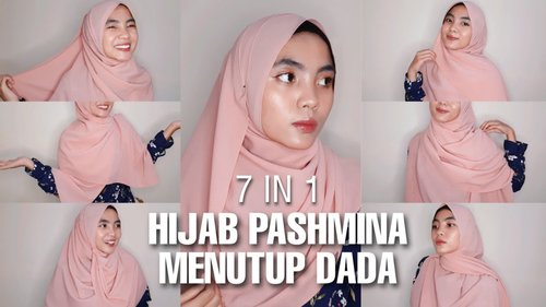 Tutorial Hijab Pashmina Syar'i | Simple Menutup Dada - YouTube