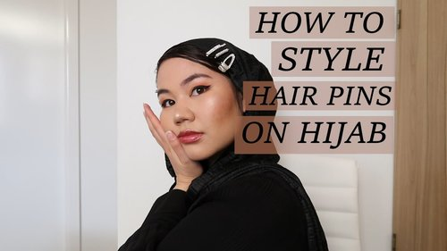 How to style hair pins & clips on Hijab - YouTube