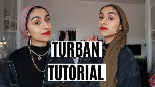 An easy turban tutorial (no pins) - YouTube