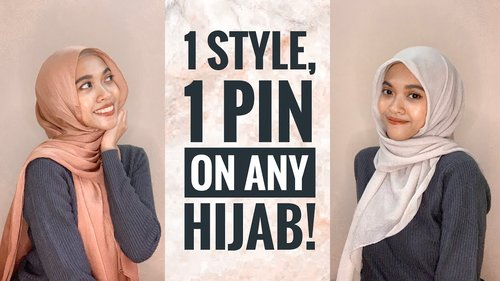 The Easiest Hijab Tutorial With 1 Pin! (Looks loose but is very secure) - YouTube