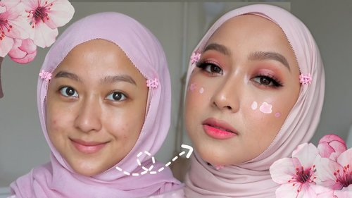 Cherry Blossom Makeup & Shawl Tutorial | innisfree 2020 Jeju Color Picker Jeju Cherry Blossom - YouTube