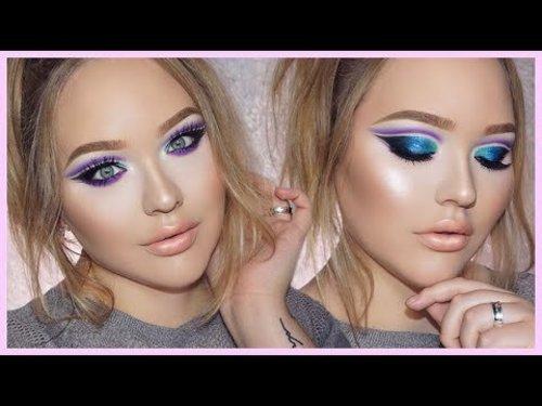 ZENDAYA Edgy Double Cut-Crease Makeup Tutorial - YouTube