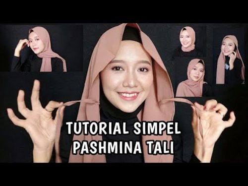 Tutorial Pashmina Tali Simpel Dan Mudah - YouTube
