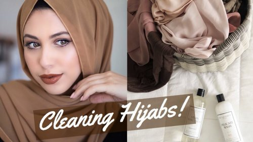 HOW I WASH MY HIJABS | CLEAN & STAIN FREE - YouTube