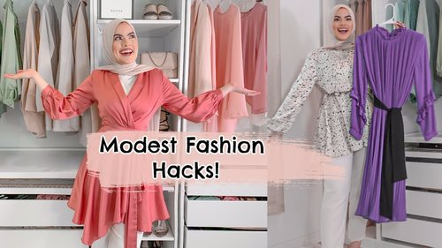 MODEST FASHION HACKS! - YouTube