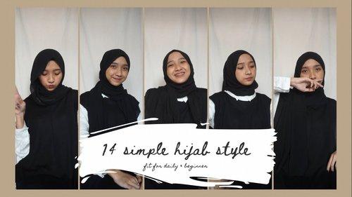 14 Hijab Style untuk Sehari-Hari, Tutorial Simple & Mudah | citraamr - YouTube