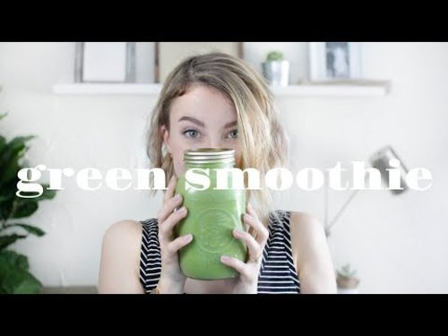 GREEN SMOOTHIE Recipe | Clear Skin & Weight Loss - YouTube