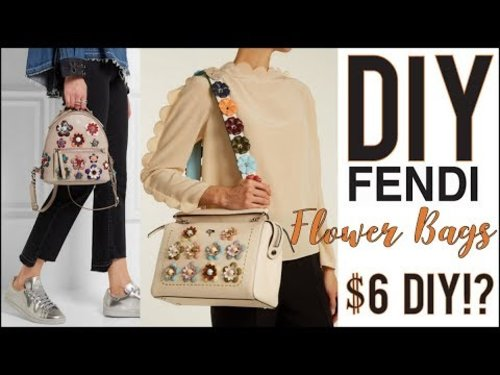 """<div class=""""photoCaption"""">DIY: How to Make the Fendi Floral Bags $6! - by Orly Shani - YouTube</div>"""
