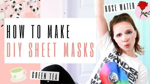 DIY Sheet Mask Recipes - YouTube