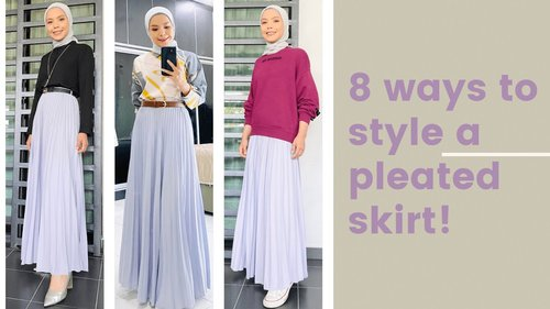 8 Ways To Style a Pleated Skirt   Lin Ariffin - YouTube