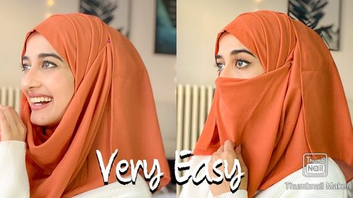 Arabic hijab style -Very Easy and comfortable-hijabtutorial - YouTube