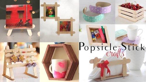 "<div class=""photoCaption"">Top 10 DIY Popsicle Stick Craft Compilation   Craft Ideas   Home Decor - YouTube</div>"