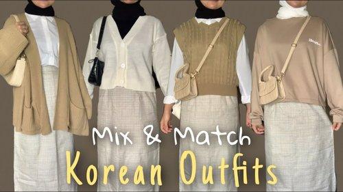 SHOPEE HAUL | MIX & MATCH EARTH TONE OUTFIT | Korean Style | Bisa buat bukber! - YouTube