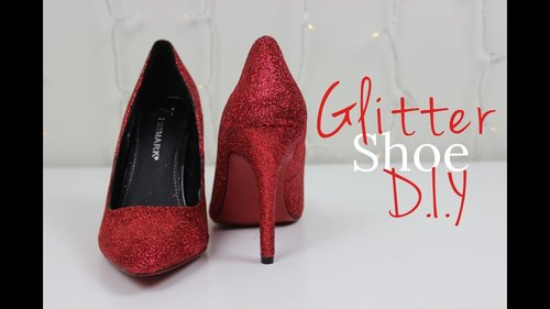 DIY Glitter Shoes | The Design Diary - YouTube