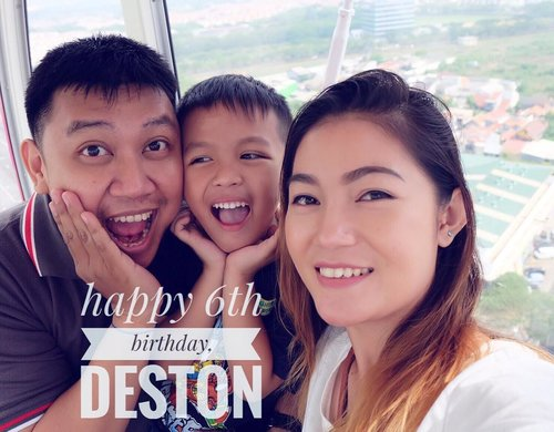 """.Birthday wishes from the sky @ferriswheel.jsky @aeonmall_jakartagardencity to our son~shine.""""Dear Son, you're our greatest blessing. May your birthday and all your tomorrows be blessed with everything good in life!""""#destonmarvelle.#birthdayboy #happybirthday #sonshine #thanksgod #happyday #blessed #love #mommydaddyloveyou #familyday #familytime #familycomesfirst #mommyblogger #bloggerslife #clozetteid #potd #bestoftheday"""