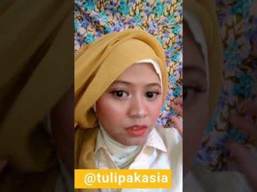 TUTORIAL HIJAB DEWI SANDRA IKLAN WARDAH - YouTube #clozetteid