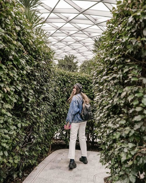 Let's play hide and seek with me 🌿🍃 . . 📍 Hedge Maze, Jewel Changi . . . . . #VisitSingapore #PassionMadePossible #Jewelchangi #singapore #yunitapassionmadepossible #travel #clozette #clozetteid