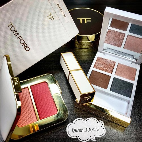 #TomFordBeauty  #TomfordSoleil • • • I thought that #whitesuede eye color quad only available at #NeimanMarcus . It comes all the way ... till the glittery shade mess up. 😅 end up , I see it last week at #TomFordKLCC 😅 Happy 😃 that it comes closer and closer to me. One of my fave brand of #beauty #Tomford • • • #makeup #makeuptalk #makeupgram #makeupflatlay #beautygram #clozette #clozetteid #beautylover #beautytalk #beautyaddict #beautyblog #instablogger #tomfordaddict #wakeupandmakeup #tomfordlipstick #lipstick #cushion #bicoastal #makeuppost #makeupporn #makeuplife