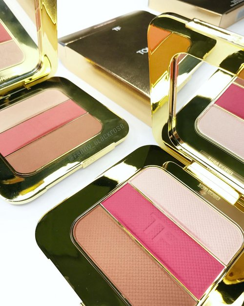 You know... it's coming ... #TomfordTuesday 💖🌴💖🌴💖🌴✨ Here's the comparison of #limitededition #TomfordBeauty  #afternooner #afterglow #TomfordSoleil #highlighter  #blush  #bronzer  #palette I can't resist to collect more, u know it 😊💖😊💖✨ #wakeupandmakeup  #luxurybeauty  #tomfordmakeup #ilovemakeup  #idontpopmollyirocktomford  #white  #gold  #makeuppost  #makeupflatlay #makeupmadness #makeupporn #beautygram  #beauty  #beautyblogger  #clozette  #clozetteid
