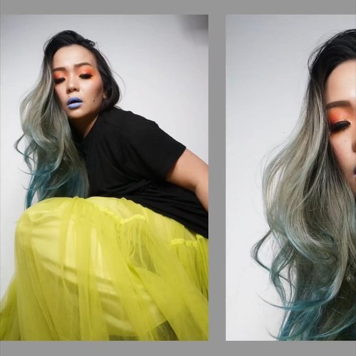 U BETTER HURRY ... • • • Playing with some apps again 🌈😊🌈 And my #neon #tulleskirt @sirenclothingind And #boots • • • #makeupstory #makeuptalk #makeupvideo #makeupaddict #makeuplover #beautyaddict #beautytalk #clozette #clozetteid  #green #orange #hudabeauty #woman #hurryup #makeuppalette #asianwoman #beautyblog #beautyblogger