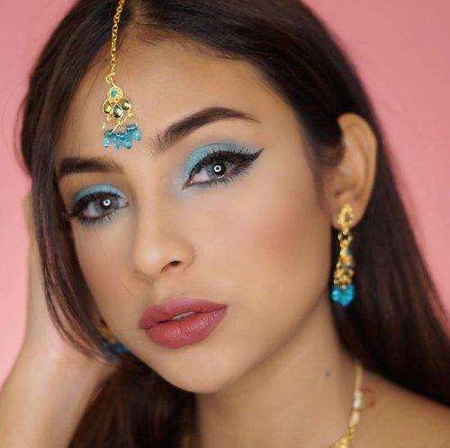 Ini aksesoris udah dibeli pas jamannya Jasmin Aladdin tapi ga bikin2 kontennya hahaha. Akhirnya sekarang iseng deh bikin makeup pake aksesoris India ala ala~.#indobeautysquad #clozetteid #beautynesia